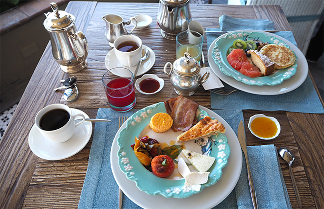 Taormina villa ducale breakfast