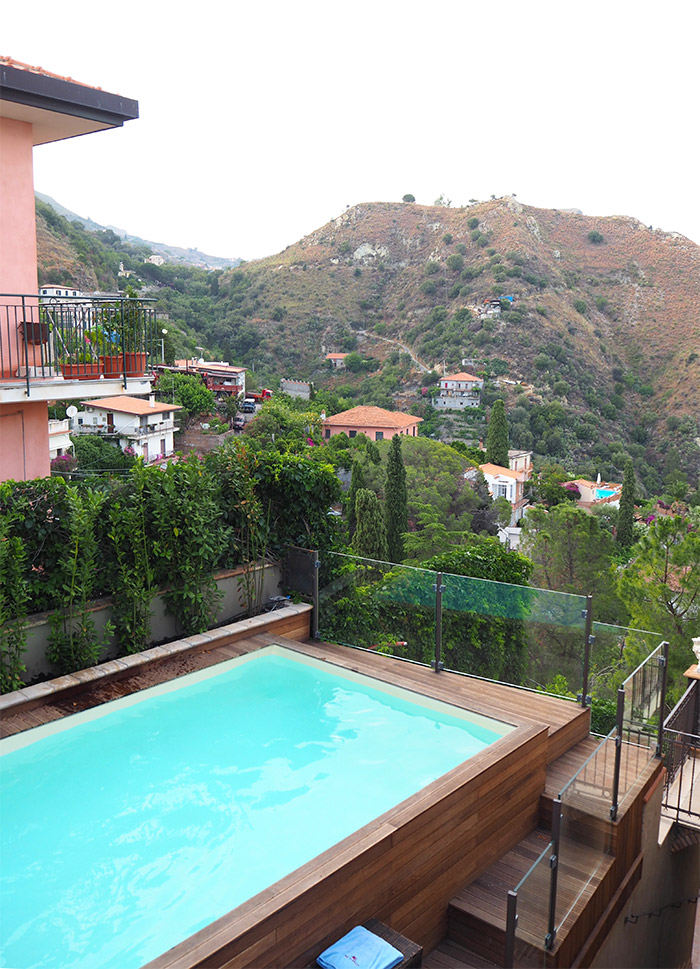 Taormina villa ducale piscine