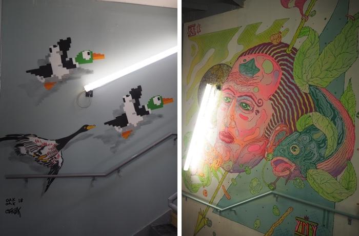 escalier street art maison Nô
