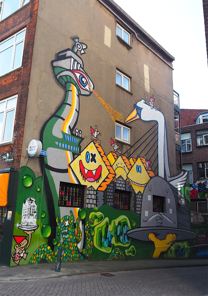 Rotterdam streetart Lastplak