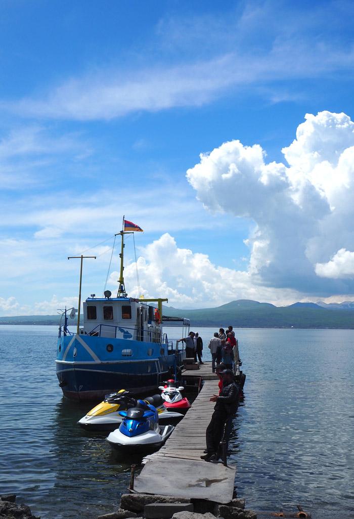 Lac Sevan bateau jet ski