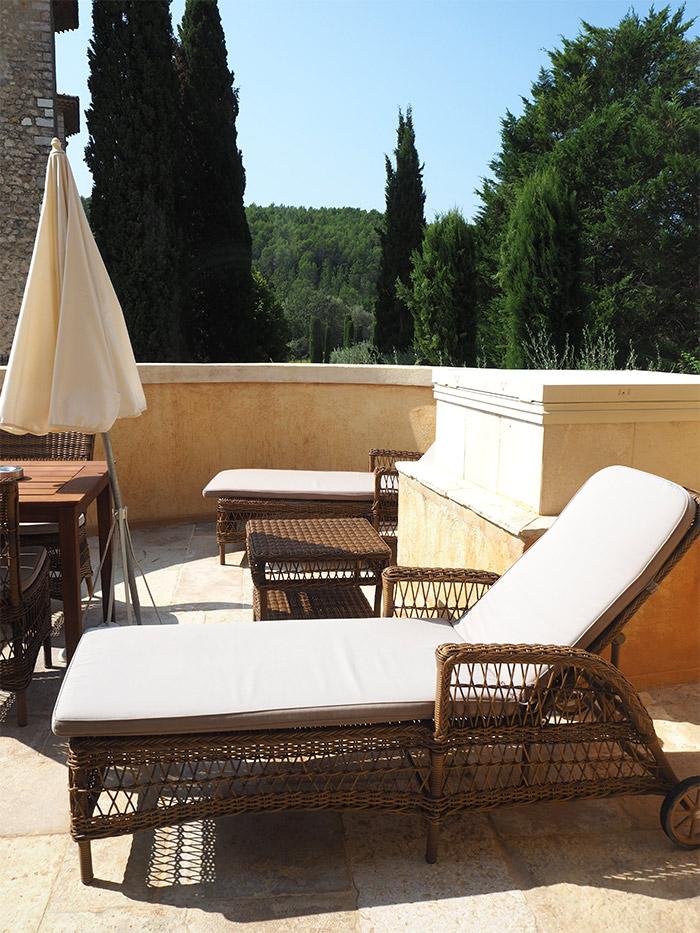 chateau de berne balcon hotel luxe