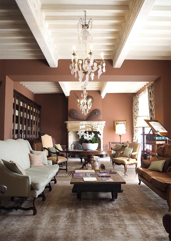 salon bibliothèque chateau berne lorgues