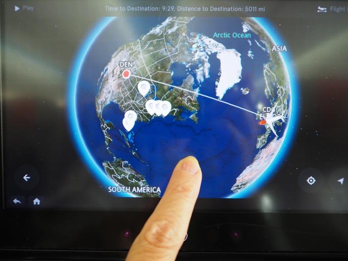 mappemonde 3D norwegian vol paris denver