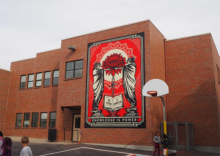 Shepard Fairey Cheltenham Elementary Denver