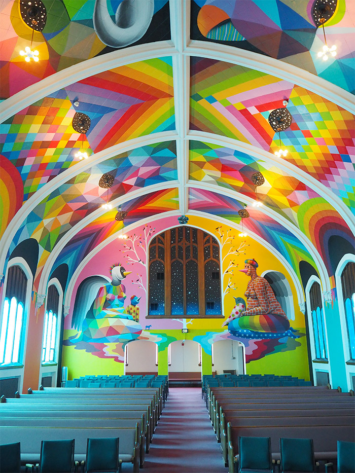 Okudart Denver church cannabis