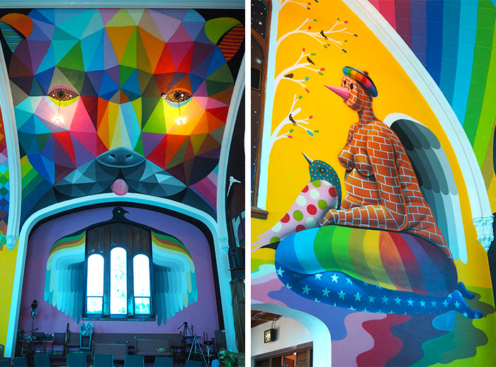 Denver Okudart street art church cannabis