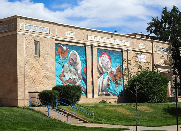 Fairview elementary Denver street art
