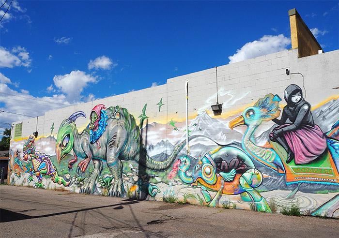 Denver street art Santa Fe Art District