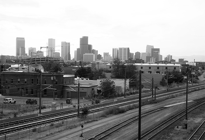 USA Denver skyline