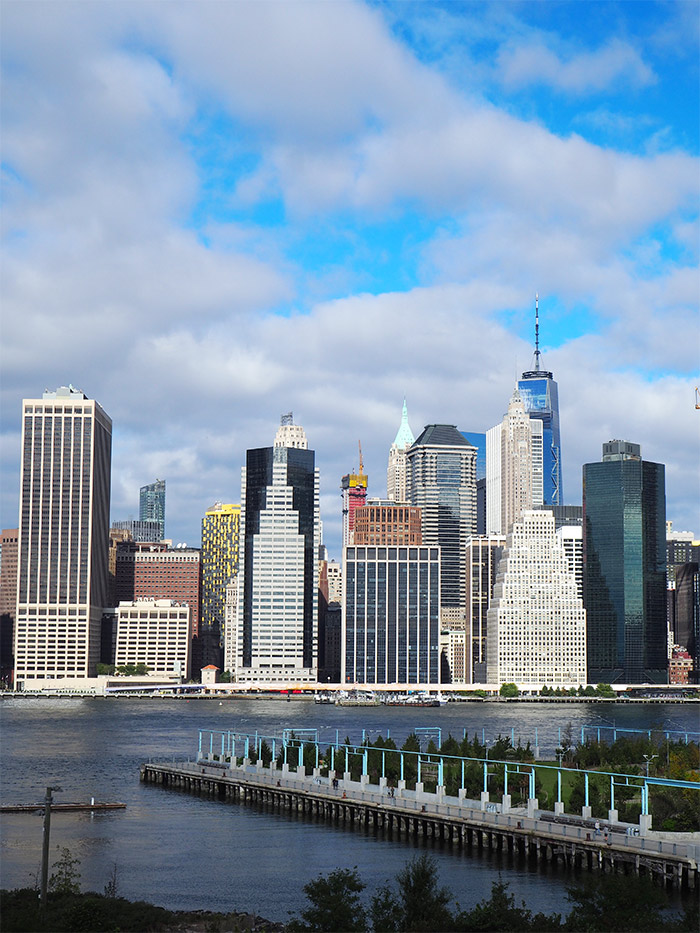 vue sur Manhattan depuis Brooklyn Heights