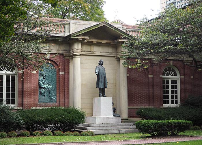 brooklyn heights eglise statue
