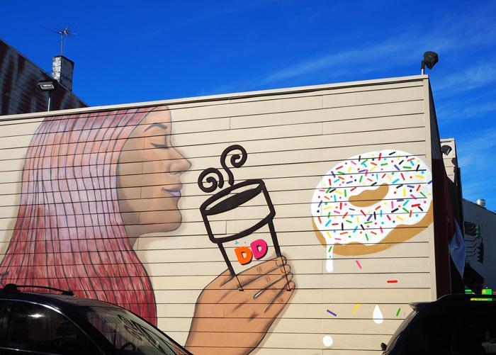 dunkin donut bushwick mural