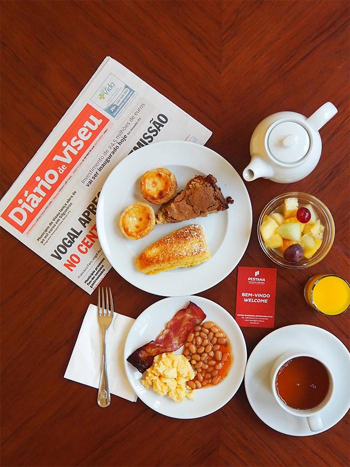 viseu pousada hotel petit dejeuner