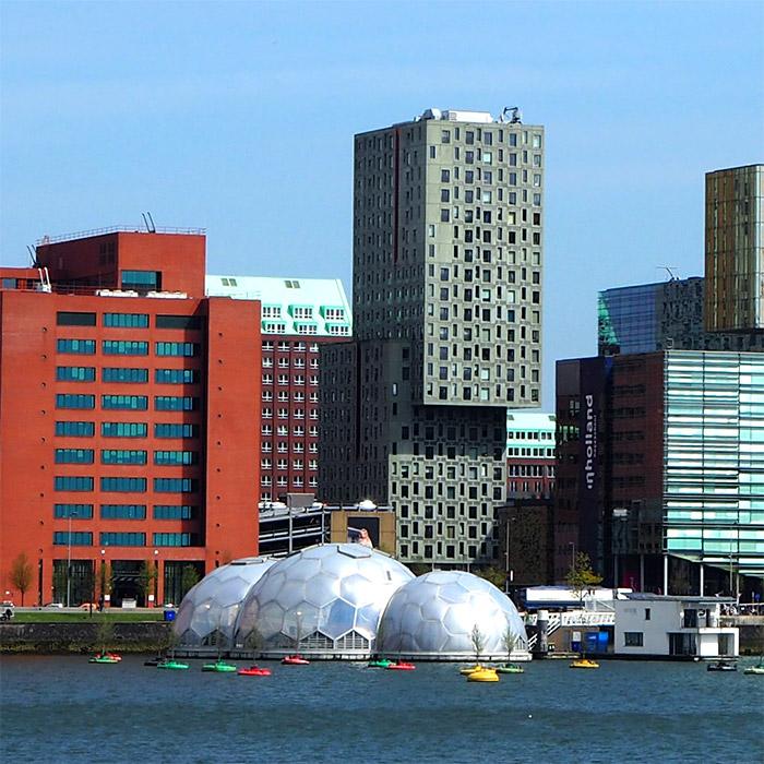Rotterdam bulles architecture