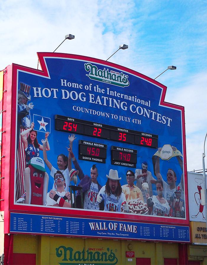 coney island hot dog eating contest