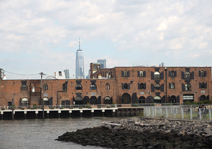 freedom tower from redhook brooklyn