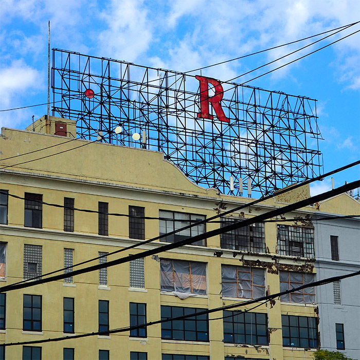red hook neon sign R
