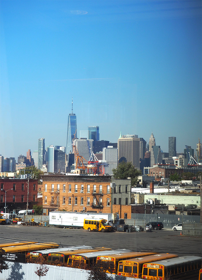 skyline manhattan view from ikea store