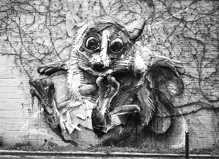 bordalo II mouse paris rue watt