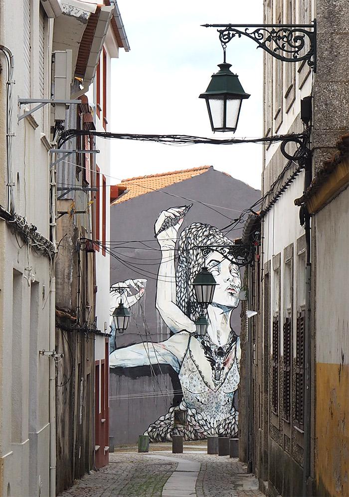 Tamara Alves street art Covilha