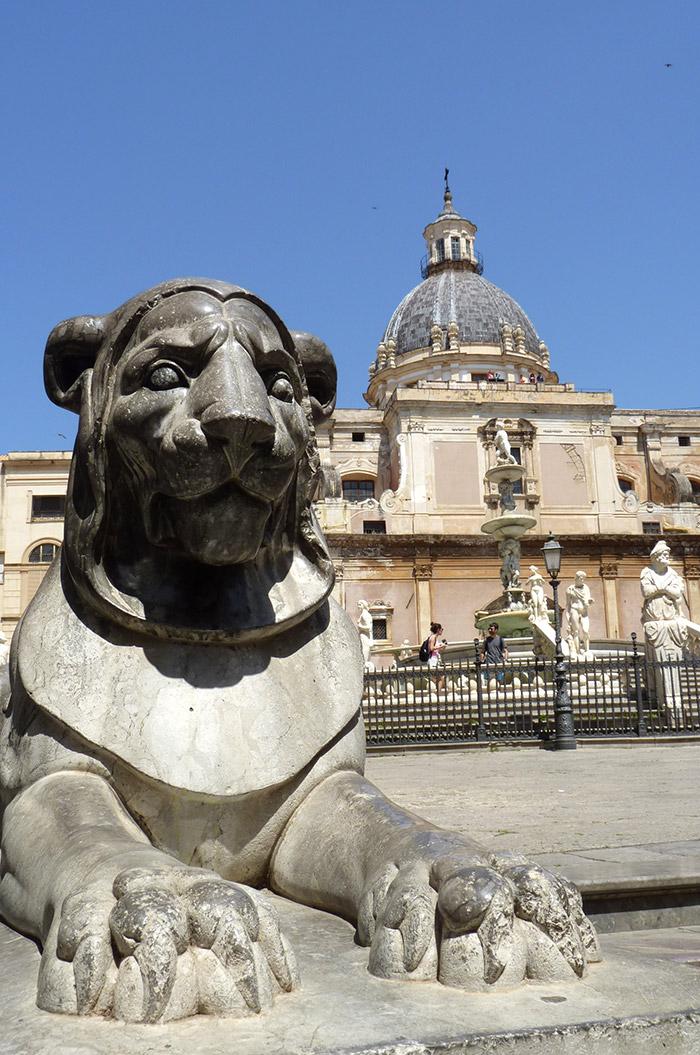 palerme piazza pretoria fontaine