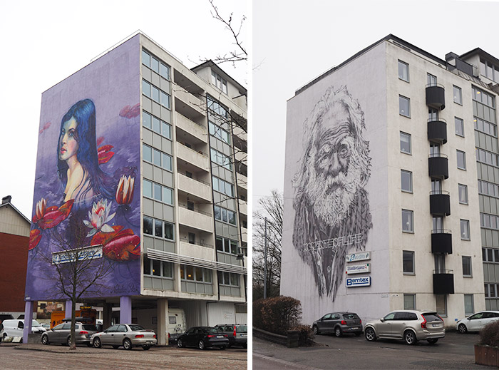Natalia Rak street art Boras