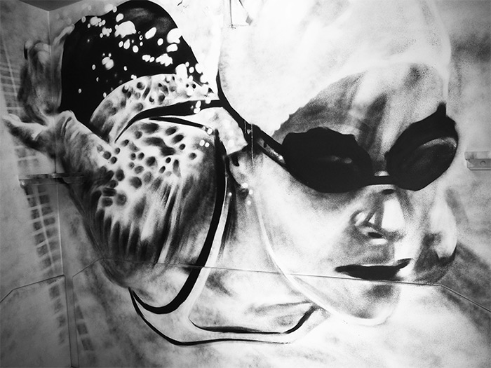 artiste cabines street art Molitor