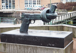 no violence sculpture boras suede