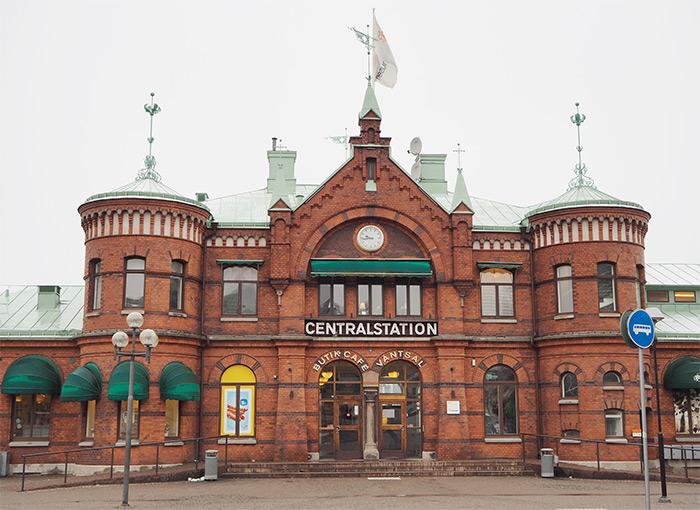 Gare trains Borås Suède