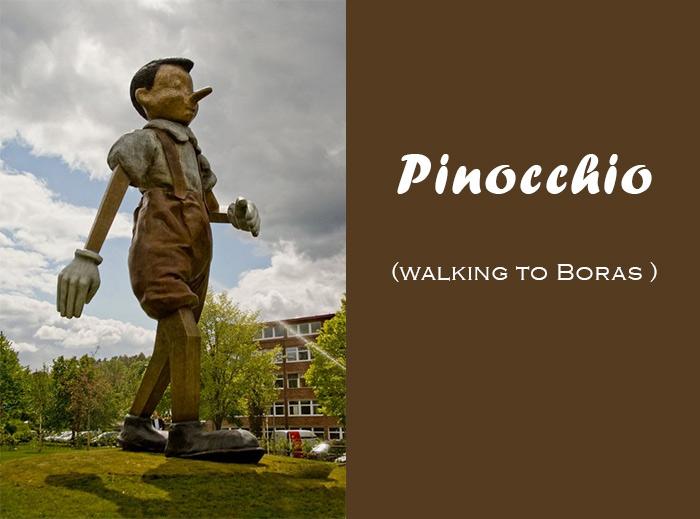 sculpture Pinocchio Boras Suède