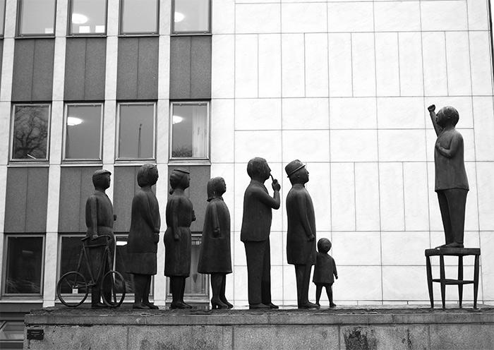 sculptures à Boras Suède