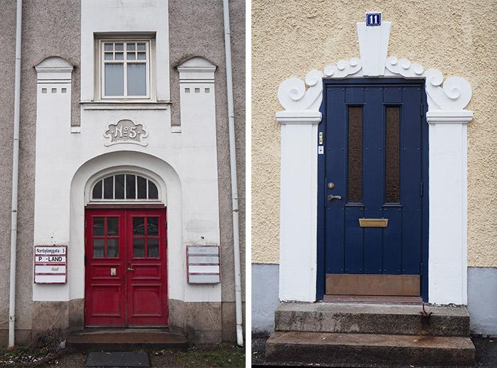 Suède Borås jolies portes