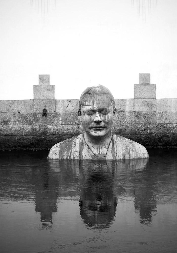 Fredrik Wretman sculpture Borås Suède Bodhi