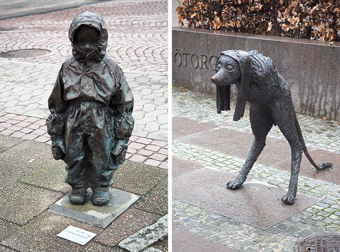 Suède Borås ville sculptures
