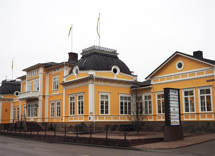 boras Suède maison jaune