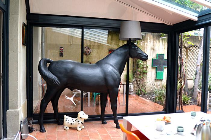 la maison vintage cheval lampe