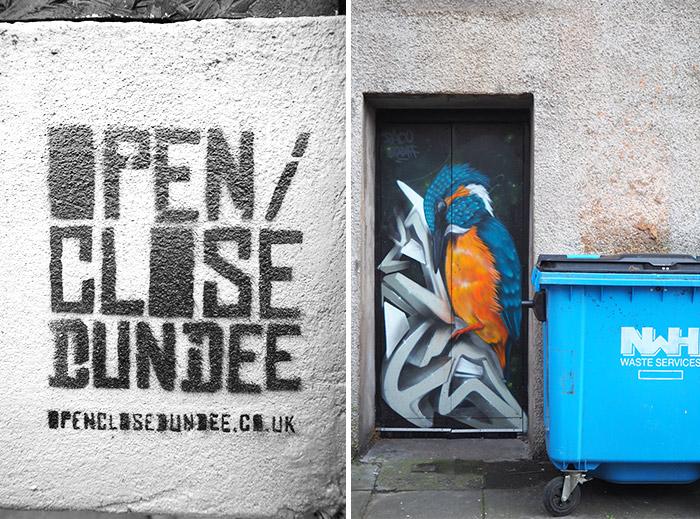 ecosse dundee portes peintes