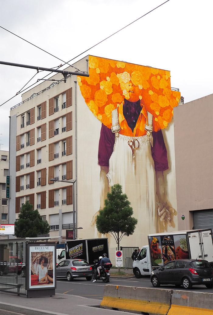 Inti artist peinture fraiche street art lyon