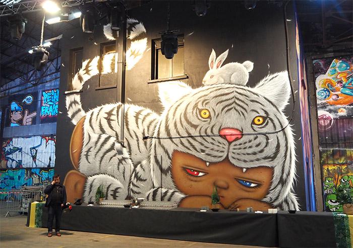 peinture fraiche festival alex face