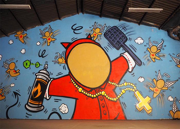 gouzou cardinal Barbarin lyon peinture fraîche