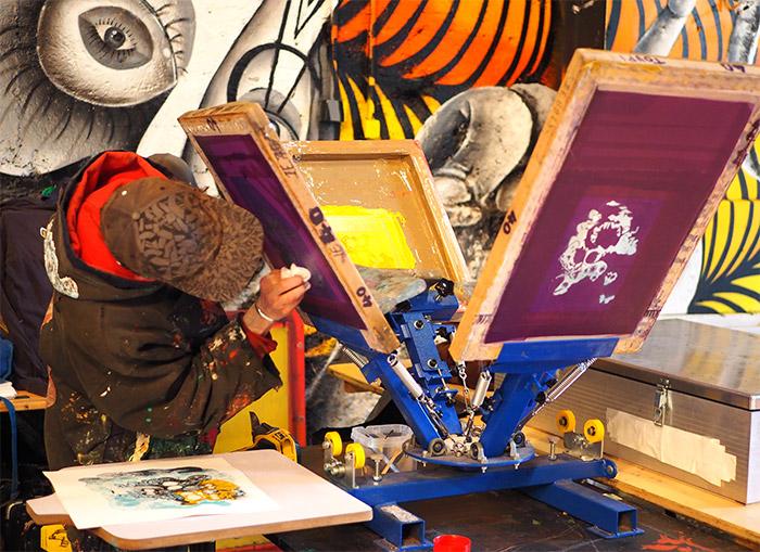 peinture fraiche atelier serigraphie lyon
