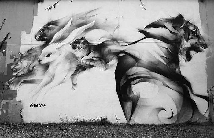 satr street art peinture fraiche lyon