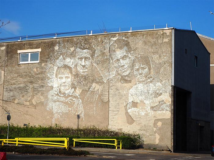 vhils street art Aberdeen