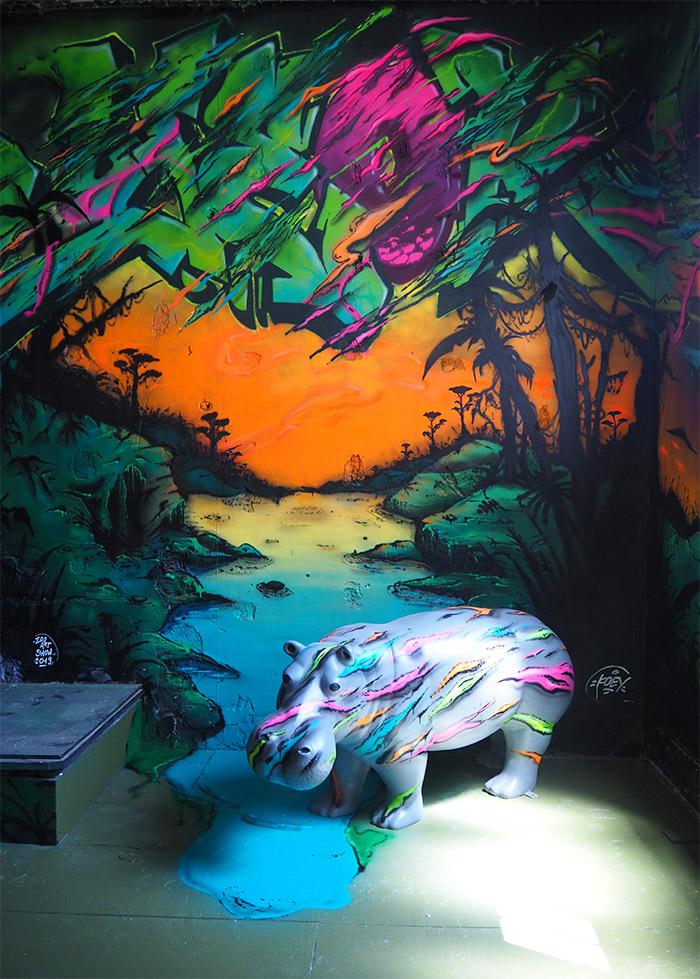 zoo art show 2 koey hippopotame