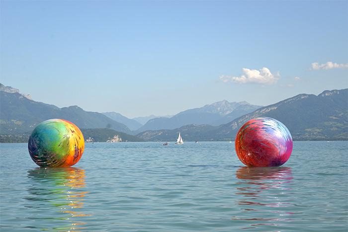 sphères Annecy Paysages lac