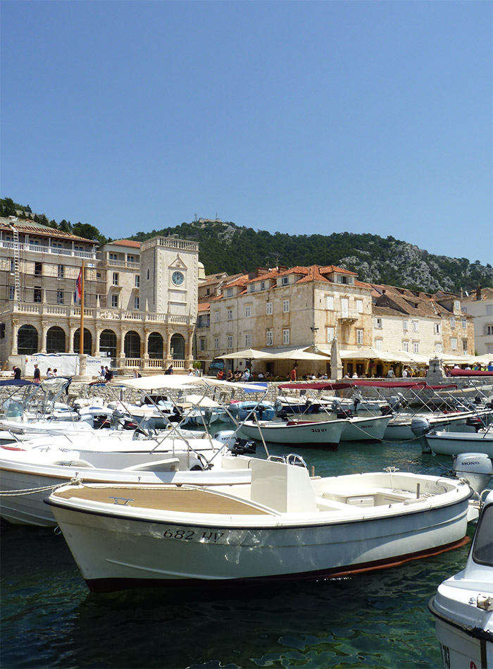 Hvar Croatie port bateaux