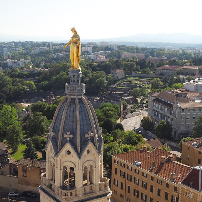 vierge marie basilique fourviere lyon