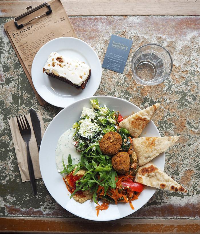 foodstory cafe aberdeen falafel