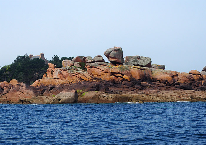 archipel sept iles cote granit rose